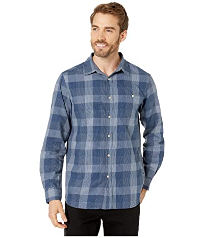 The North Face Long Sleeve Hayden Pass 2.0 Shirt (Urban Navy Encinal Plaid) Men