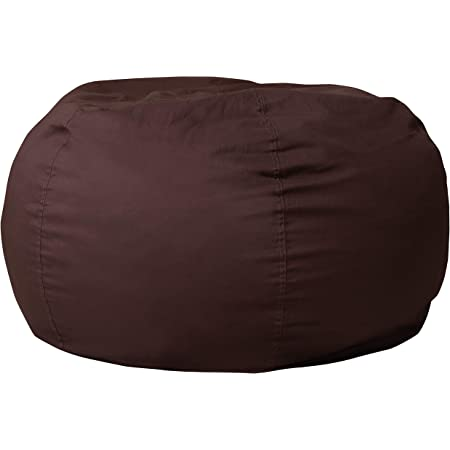 Flash Furniture Oversized Solid Brown Bean Bag Chair for Kids and Adults