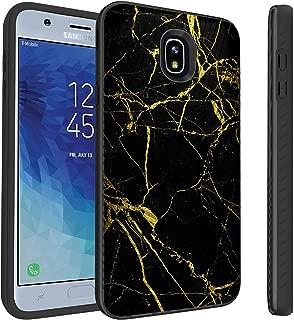 Untouchble Case for Samsung Galaxy J7 2018, J7 Crown, J7 Aura, J7 Refine, J7 Eon, J7 Aura [Stripe Force] Hard Case Combat Shockproof Two Layer Flexible TPU Bumper Cover - Gold Marble