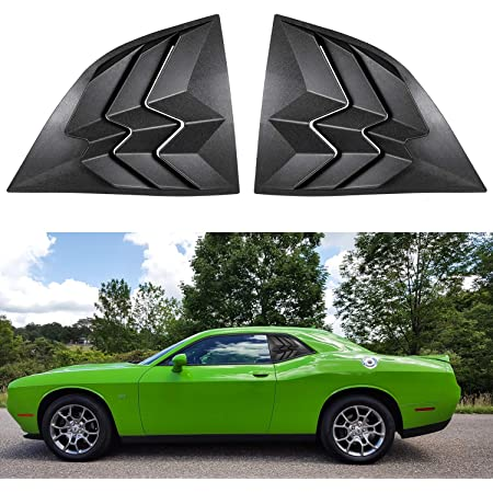 2PCS Yoursme Quarter Side Window Scoop Louvers for 2008-2019 Dodge Challenger ABS Window Visor Cover Sun Rain Shade Vent