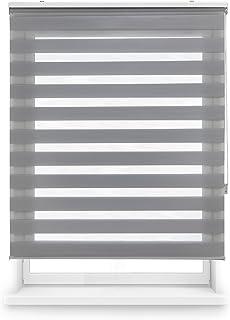 Blindecor Estor Enrollable Doble Tejido Noche y Día, Tela, 160 x 180 cm, Gris
