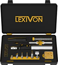 LEXIVON Butane Soldering Iron Multi-Purpose Kit | Cordless Self-Igniting Adjustable Flame..