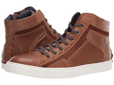 Steve Madden Melvin Sneaker (Cognac Leather) Men