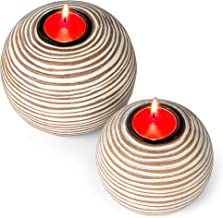 Sponsored Ad - Huey House Orb Candle Holders (Gift Boxed Set of 2), Table Centerpieces for Dining or Living Room, Spa, Bat...