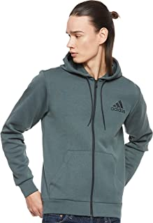 Adidas Weft Knitted Must Haves Sports Jacket For Men - Legend Ivy, M