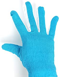 AJOY Inelastic Exfoliating Gloves, Powerful Bathing Scrub, Five Fingers, Fully Fit, No Blind Spots, Cleaning dead skin Cells