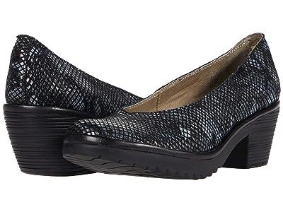 FLY LONDON WALO988FLY (Black Snake Print Leather) Women