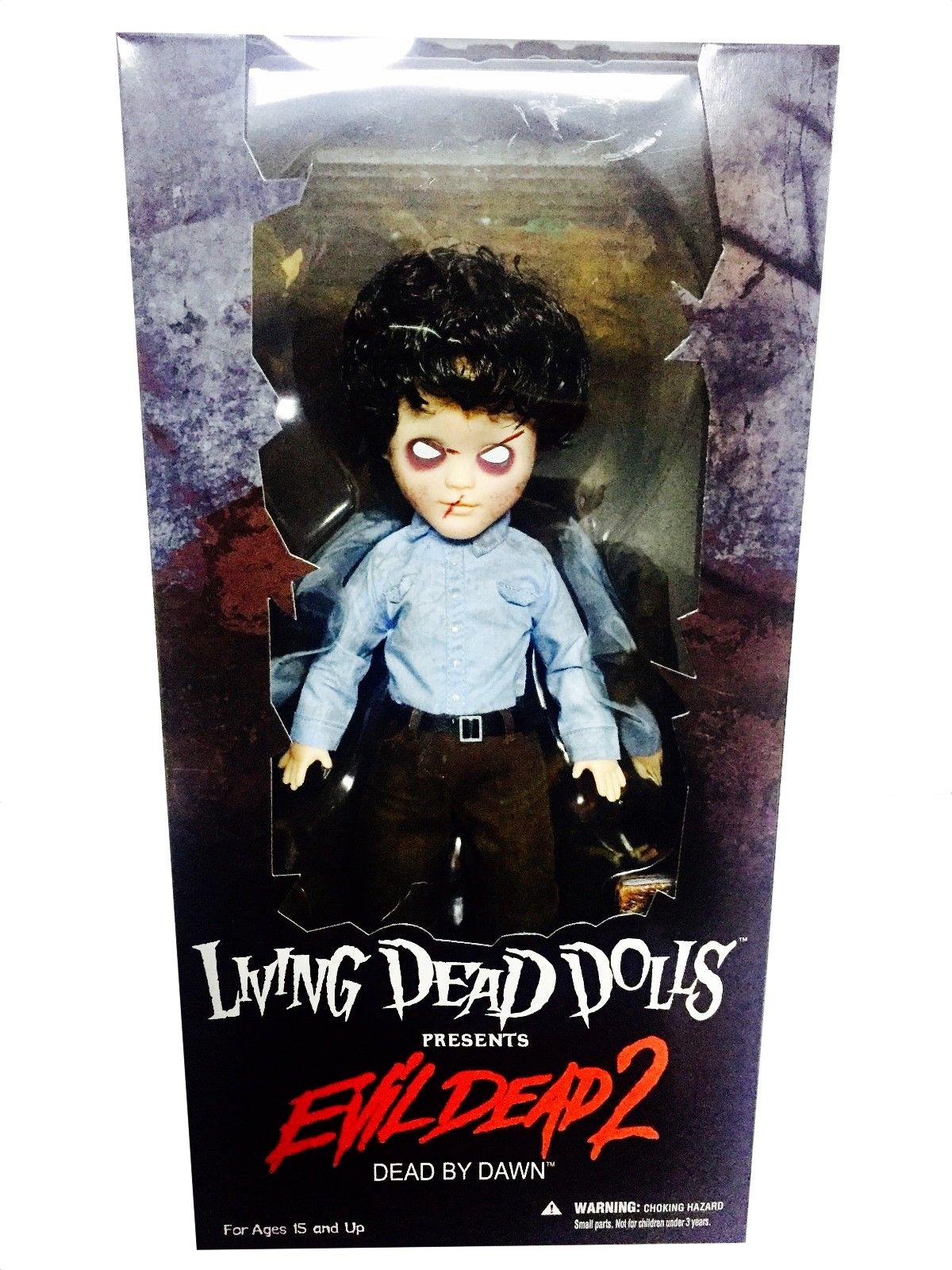 Mezco Living Dead Dolls Evil Dead 2 Ash Doll *New ~ Factory Sealed