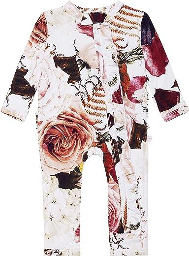 منامة بوش Peanut Baby Rompers - ملابس حديثي الولادة النائمة للبنات - ملابس أطفال قطعة واحدة - نسيج فسكوز ناعم من الخيزران