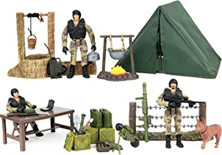 Click N' Play Military Campsite 35 Piece Play Set with Accessories.