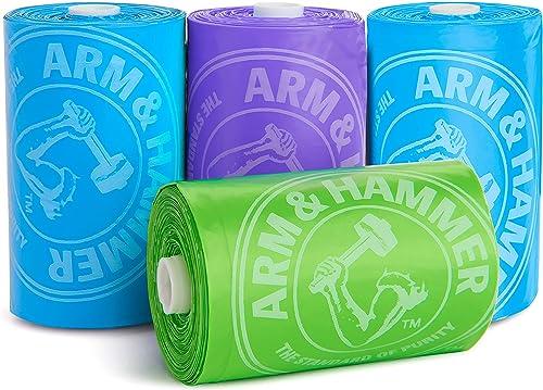 Munchkin Arm & Hammer Diaper Bag Refills, 4 Pack, 48 Bags
