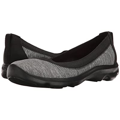 Crocs Busy Day Stretch Flat Ballet NM Heathered (Dark Grey) Women