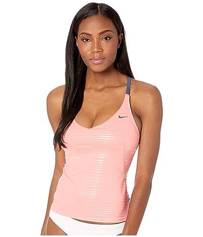 Nike 6:1 Shine Stripe Cross-Back Tankini (Pink Gaze) Women