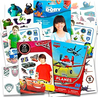 Disney Pixar Ultimate Party Favors Bundle~ Over 200 Temporary Tattoos Featuring Cars, Finding Nemo and Planes