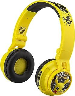 eKids Pokemon - Auriculares Bluetooth para niños, inalámbricos con micrófono, Incluye Cable Auxiliar, reducción de Volumen...
