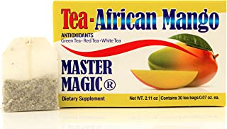 Te de Mango Africano Master Magic African Mango Tea Detox Tea Extra Strength Irvingia Gabonensis with Te Verde, Te Rojo, Te Blanco MADE IN USA