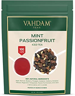 VAHDAM, Mint Passion Iced Tea 40 Servings, 8 Quarts Natural Ingredients Delicious Flavor of Passionfruit, Spices, Tropical...