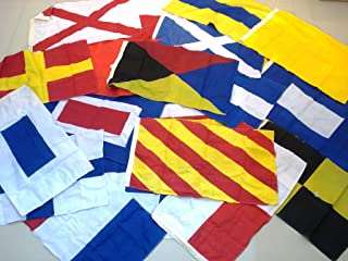 Large - International Code Flags - Set of 26 Flag - Nautical/Maritime/Marine/Boat/Ship/Vessel/Nautical Décor (5028)