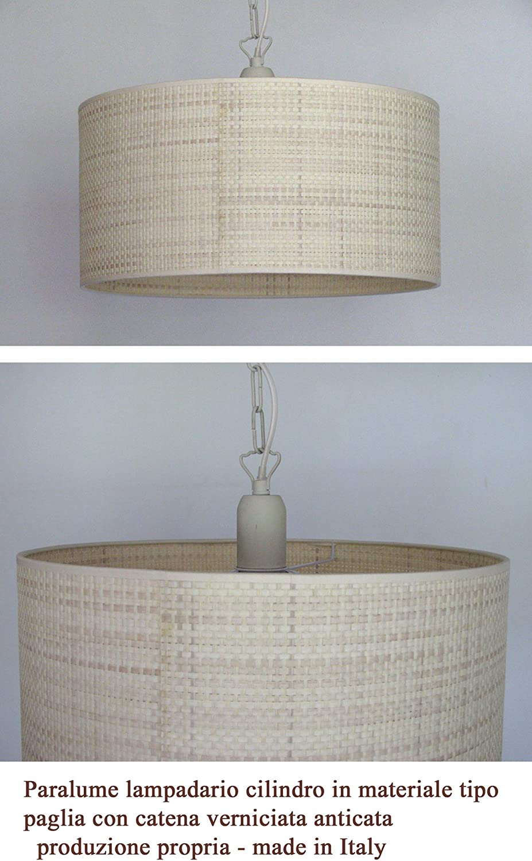 Beleuchtung und Ausstattung  Serie mit Tischlampe und Nacht Suspension von der Decke Material wie Stroh oder Korb (pr-sosp50-paglia)