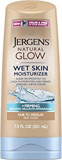 Jergens Natural Glow +Firming Body Moisturizer, Fair to Medium Skin Tone, 7.5 Ounce Wet Skin Lotion, featuring Collagen and Elastin, Helps to Visibly Reduce Cellulite