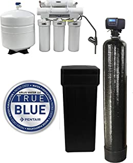 DuraWater 5600sxt Fleck 5600 SXT Metered Softener Reverse Osmosis (48,000 Grain 1 Inch Bypass) Combo System, Black