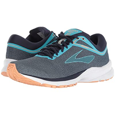 Brooks Launch 5 (Peacock Blue/Navy/Cantaloupe) Women
