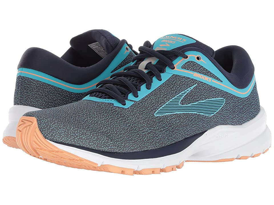 da3c6bb2035 Brooks Launch 5 (Peacock Blue Navy Cantaloupe) Women s Running Shoes
