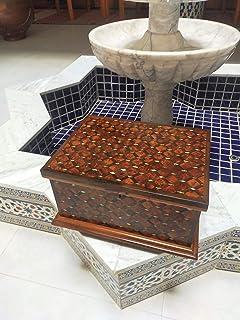 Scatola di gioielli in legno Thuja, scatola di legno con serratura a due livelli, scatola di immagazzinamento di gioielli,...