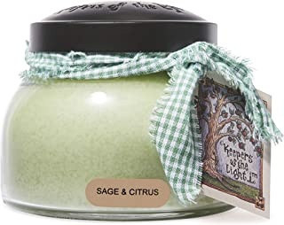 A Cheerful Giver Sage and Citrus Mama Jar Candle, 22-Ounce