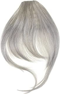 New Style One Piece Clip In Fringe Bangs Hairpiece Silver Grey Very Real Look Synthetic