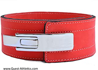 Quest Athletics Powerlifting Belt with Lever Buckle (Dark Peach) - 10mm Weightlifting Crossfit Strongman Lifting Belt - Limited Edition