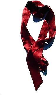 Silky Affection – Women's Silk Skinny Scarf | Versatile and Edgy – Wear as Necktie, Choker, Headwrap, Belt