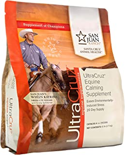 UltraCruz Equine Calming Supplement for Horses, 6 lb, Pellet (20 Day Supply)