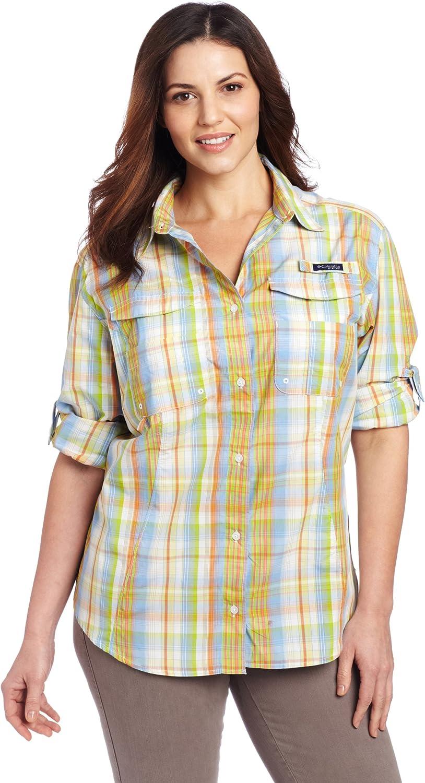 Columbia Women's Super Bonehead service Long Size Sleeve 4 years warranty Extended Shirt