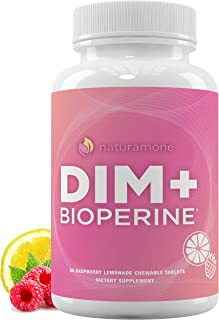 DIM Supplement 200mg - Raspberry Lemonade Chewables - DIM Diindolylmethane with BioPerine (Black Pepper Ext...