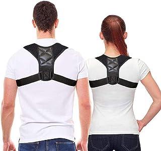 Posture corrector for Men, Women, Kids. Comfortable upper back brace for Clavicle shoulder support. Adjustable back straightener, providing pain relief for neck, back & shoulders. Corrector de postura