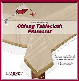 LAMINET Heavy-Duty Deluxe Crystal Clear Vinyl Tablecloth Protector 70