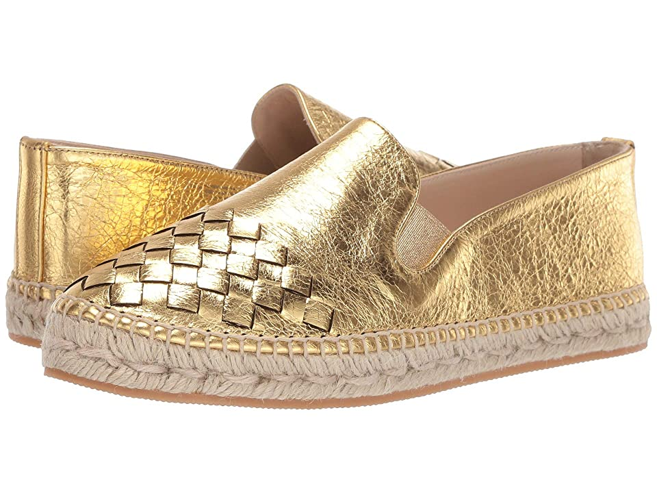 Bottega Veneta Intrecciato Leather Espadrille (Light Gold) Women