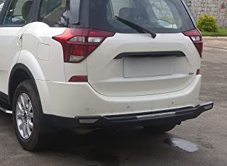 Goldsun long durable|high impact ABS easy step-in Rear nudge guard|Rear Bumper Protector with eye catchy sill plates|for Mahindra XUV 500 |W5|W7|W9|W11|2015 - present|all variant|GRB 508 -Matte Black|