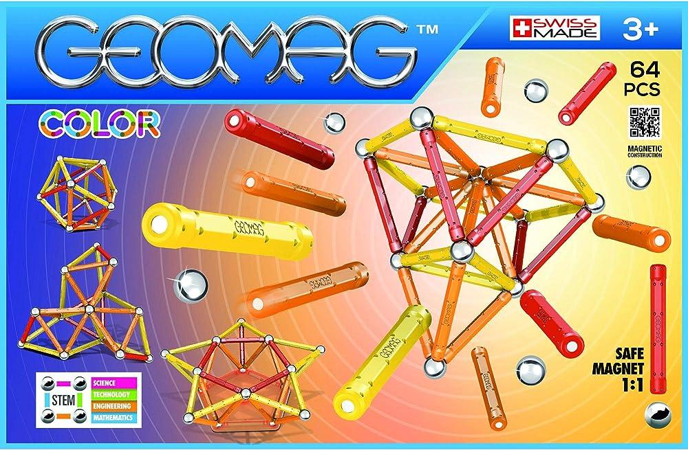 Geomag, color gioco di costruzione con sfere e barrette, multicolore, 64 pezzi 262