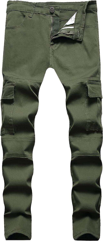 LONGBIDA Max 89% OFF Men's Max 90% OFF Moto Biker Jeans Slim Denim fit Pants with Skinny