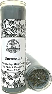 Art of the Root Uncrossing 7 Day Soy Herbal & Scented Spell Candle (Fixed) for Negativity, Spells, Curses, Jinxes, Hexes & Crossed Conditions Wiccan Pagan Conjure Hoodoo