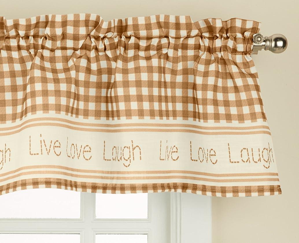 LORRAINE HOME FASHIONS 00345-V-00048 Gingham Stitch Window Curtain Valance, 50