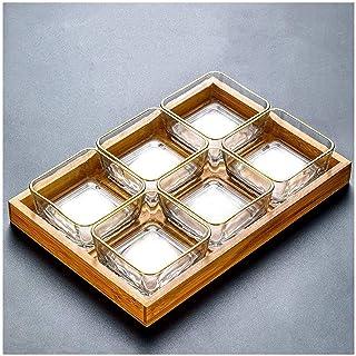 Voorgerechtborden Compote Snackbord Glas Fruitschaal Huishoudelijke Desserts Gedroogd fruit Dessert Zoetwaren Snacks Snack...