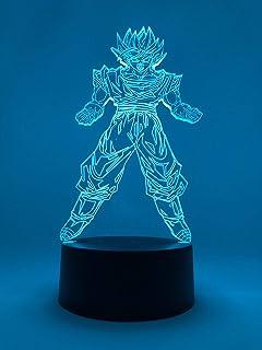 3D Lámpara de Dragon Ball Escritorio Mesa 7 cambiar el color botón táctil de escritorio del USB LED Decoración para Niños Mejor Regalo