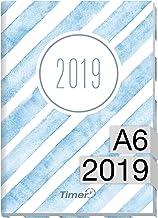 chäff temporizador de mini A6Calendario 2019[Acuarela de rayas] 12meses Jan de diciembre 2019–Agenda con vista semanal–Organizador–Calendario semanal