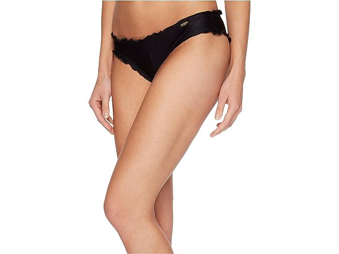 Luli Fama Cosita Buena Full Ruched Back Bikini Bottom Black Swimwear