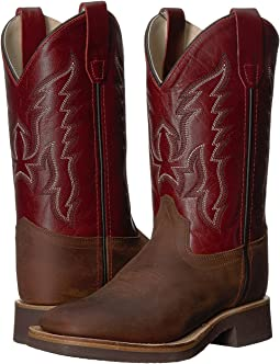 Old West Kids Boots - Broad Square Toe Crepe (Toddler/Little Kid)