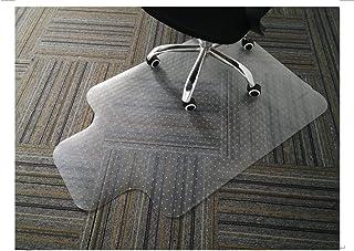 GIOVARA - Alfombrilla transparente para silla con borde para suelos de alfombra de pelo bajo, mediano, 90 x 120 cm, alta resistencia al impacto, antideslizante, material no reciclable