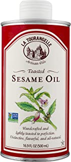 La Tourangelle Toasted Sesame Oil – Rich, Deep, Delicious Flavor – All-natural, Expeller-pressed, Non-GMO, Kosher – 16.9 Fl. Oz.